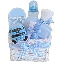 Bébé Première Voiture Panier Cadeau/Cadeau Bleu Panier/Panier/Cadeau/Panier de douche pour