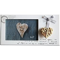 Fotos Vintage Diseño de cartas con corazón Lacado aprox. 25x 13cm para fotos 14x 9cm