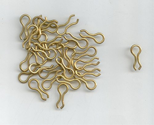 #2 BRASS SINKER WIRE EYE FOR THE DO-IT MOLDS 250 PER PACK BY S & J's TACKLE BOX by S & J's TACKLE BOX