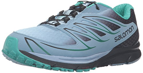 Salomon Sense Mantra 3 W-W, Scarpe da Trail Running Donna, Windy Blue/Black/Spa Blue, 40 2/3 C/D EU