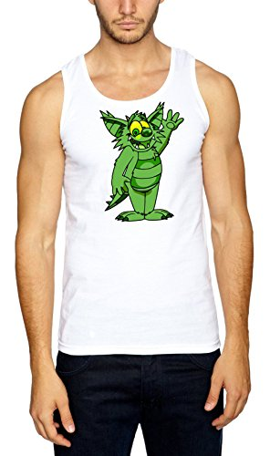 Certified Freak Green Monster Muskelshirt White XL (Mickey Und Pluto Halloween)