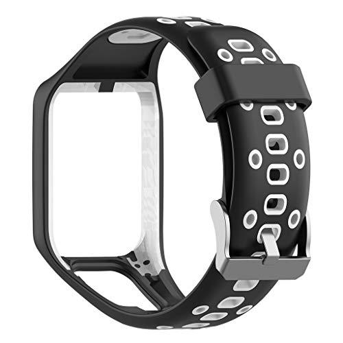 CarJTY  Für Tomtom Runner 2/3 Spark / 3 Sport Ersatz Silikon Armbanduhr  Tragen Sie weich und bequem. Leichtes, Flexibles, poröses Design, atmungsaktiv beim Training(217.8x43.4) mm