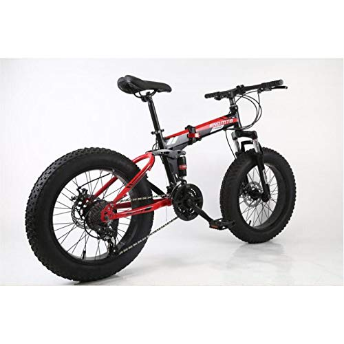"""41Ajqamq6OL. SS500  - L&LQ 20"""" Alloy Folding Mountain Bike 27 Speed Dual Suspension 4.0Inch Fat Tire Bicycle Can Cycling On Snow,Mountains,Roads,Beaches,Etc"""