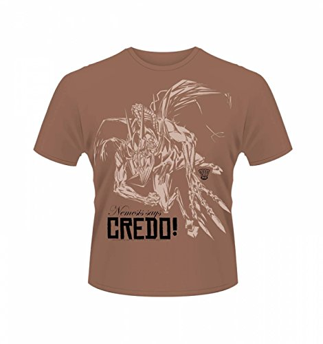 2000AD Nemesis The Warlock Credo T-shirt - Official - Antique Cherry Red Small (Rot-division-t-shirts)