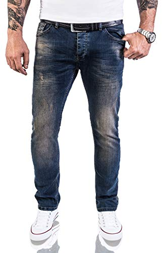 Rock Creek Jeans Designer Uomo Pantaloni Stretch Jeans Basic Slim Fit