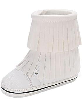 HKFV Baby Quaste weichen unteren warmen Stiefel Baby Quasten Weiche Sohle Schneeschuhe Weiche Krippe Schuhe Kleinkind...
