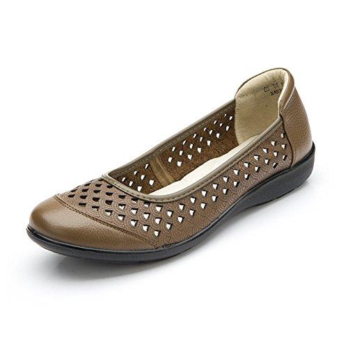 Sandales douces/Chaussures respirante d'été pour Maman/ creusent chaussures pour femmes de grande taille D