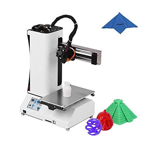 Aibecy Mini-Drucker für den Schreibtisch, hochwertig, 3D-Drucker, Aluminiumrahmen, 2,8 Zoll, Touchscreen, Halterung aus Chinesisch und Englisch für Zuhause und Schule