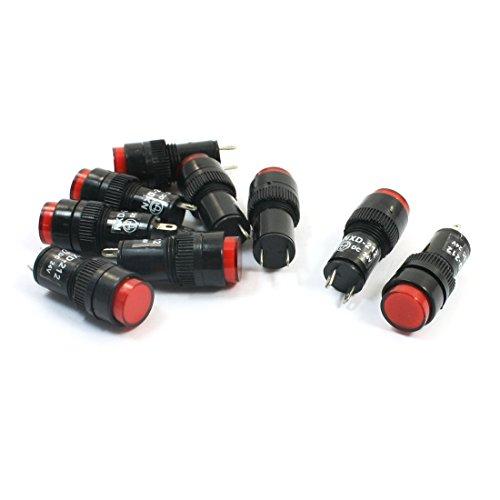 NXD-212 Rot DC Signal LED Kontrollleuchte Unfall Lampe Birne 24 V 9 Stücke Rote Kontrollleuchte