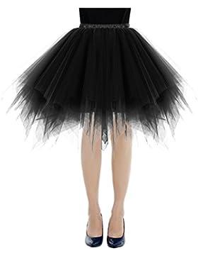 Bbonlinedress Faldas Tul Mujer Enaguas Cortas Tutus Ballet Mini para Vestidos