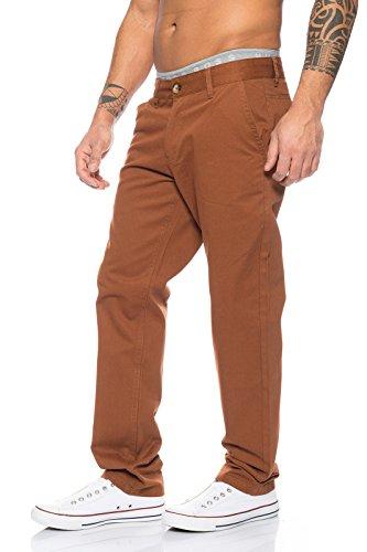 Rock Creek Herren Designer Chino Stoff Hose Chinohose Regular Fit Herrenhose W29-W40 RC-2083 Braun