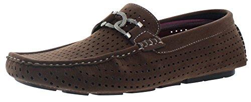 Moda Essentials , Herren Mokkasins Braun schokolade (Schokolade Leder Schuhe)