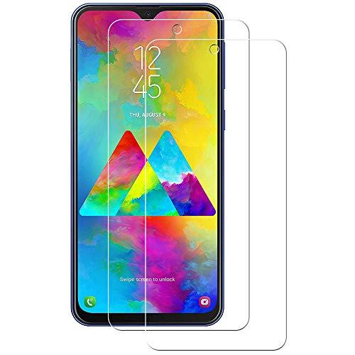 POOPHUNS Samsung Galaxy M20/ M10/ A10 Panzerglas Schutzfolie, 2 Stück, 9H Härte, Anti-Öl, Anti-Kratzer, Anti-Fingerabdruck, Gehärtetem Displayschutzfolie für Samsung Galaxy M20/ M10/ A10