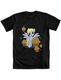 My Little Pony Derpy Muffins And Bubbles Erwachsene schwarz T-Shirt