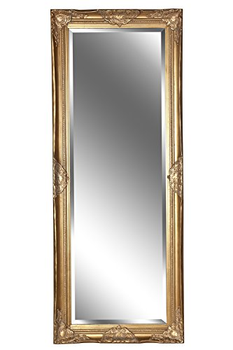 B.U.S. Wohnstyle Spiegel Wandspiegel Barock antik Gold Leandra 150 x 60 cm