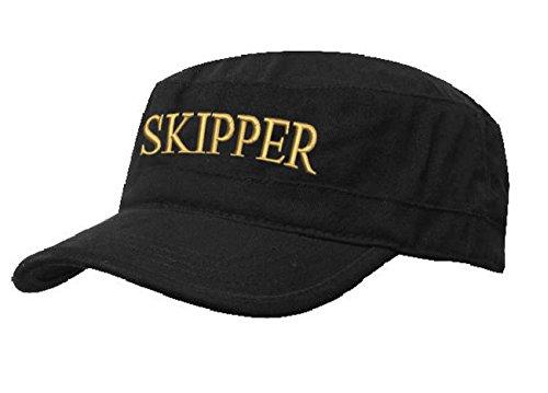 ze Army Military Baseballmütze Cap Schiff Yacht Captain,First Mate,Crew,Cabin Boy,Pirate (Skipper black gold) ()