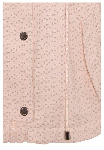 FRESH MADE Damen leichte Übergangsjacke aus Baumwolle mit Kapuze Frühlingsjacke light-rose