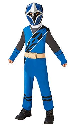 Rubie's Offizielles Power Rangers Ninja Steel Kostüm - Blue Ranger Kinderkostüm, Größe S, 3-4 - Offizielle Power Ranger Kostüm