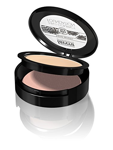 lavera 2in1 Compact Foundation Makeup ∙ Farbe Ivory Hautfarbe ∙ ideale Deckkraft ∙ Natural & innovative Make up ✔ vegan ✔ Bio Pflanzenwirkstoffe ✔ Naturkosmetik ✔ Teint Kosmetik 1er Pack (1 x 10 g)