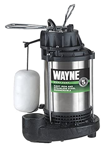 WAYNE WATER SYSTEMS - Submersible Sump Pump, Cast Iron/Stainless-Steel, .75-HP Motor