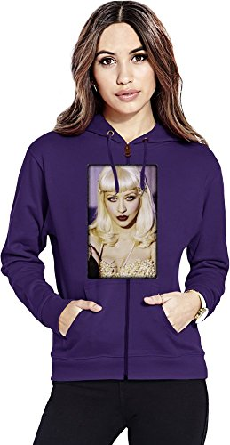 Christina Aguilera Womens Zipper Hoodie X-Large Dvr Cd