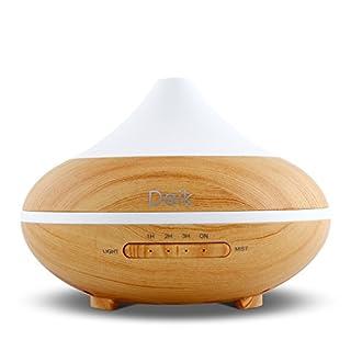 Aroma Diffuser Aiho 200ml Luftbefeuchter Ultraschall Humidifier Vernebler Öl Düfte Diffusor Duftlampe Elektrisch Holzmaserung LED mit 7 Farben einstellbarer für Babies Schlafzimmer Büro