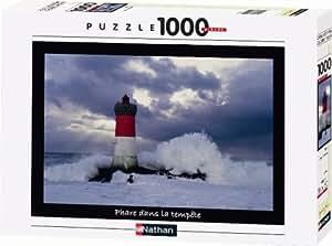 Nathan - 87523 - Puzzle - Phare dans la tempête - 1000 Pièces