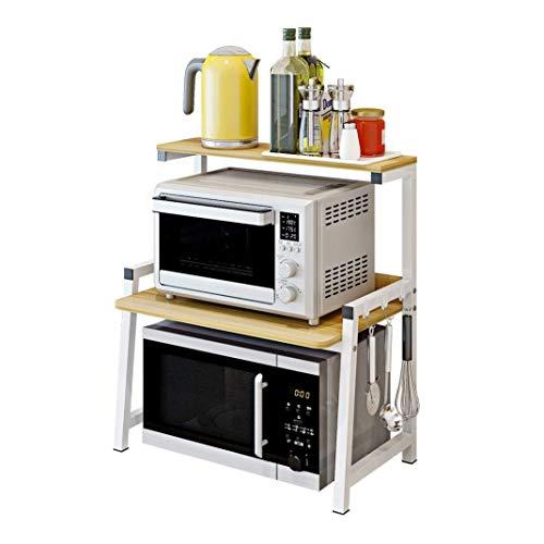 GaLon Küchen Gewürzregal 2-lagig Mikrowellen-Rost Desktop-Rost Multifunktionskaffeemaschine   Reiskocher   Geschirr Ablage H70 × B35 × L54cm (Color : B) - Selbst Reinigen Sie Ofen-racks