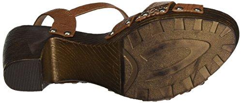 Fritzi aus Preussen Fashion Wood 01, Sandales Compensées femme Braun (Nougat)