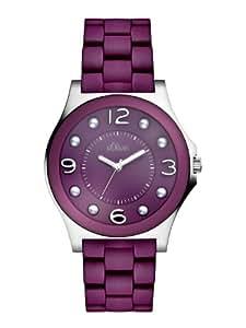 s.Oliver Damen-Armbanduhr Casual Analog Quarz verschiedene Materialien SO-2487-MQ