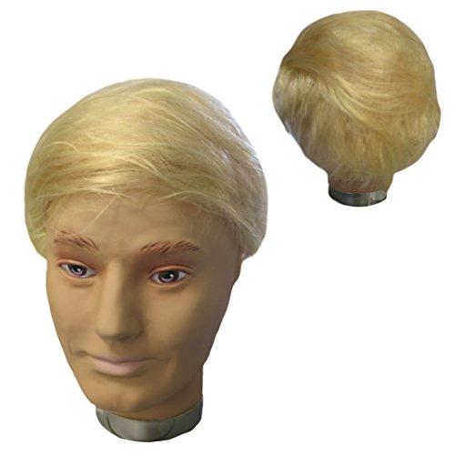 Kostüm Donald Trump Wig - Krause & Sohn Perücke Donald Trump blond Mottoparty Amerika President Kurzhaar Fasching Politiker (Perücke)