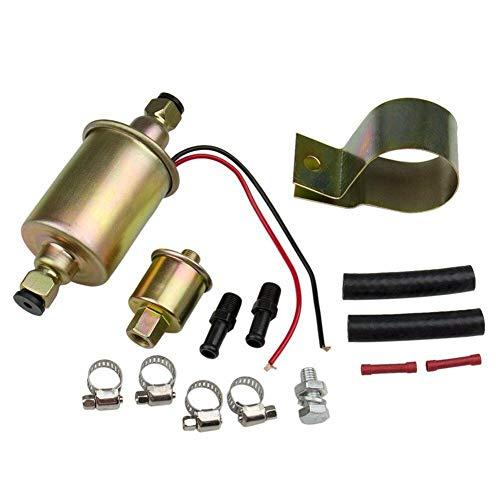 Hete-supply E8012S - Kit Pompa Carburante elettrica per Auto, 12 V, Pompa di trasferimento Carburante Olio, Universale