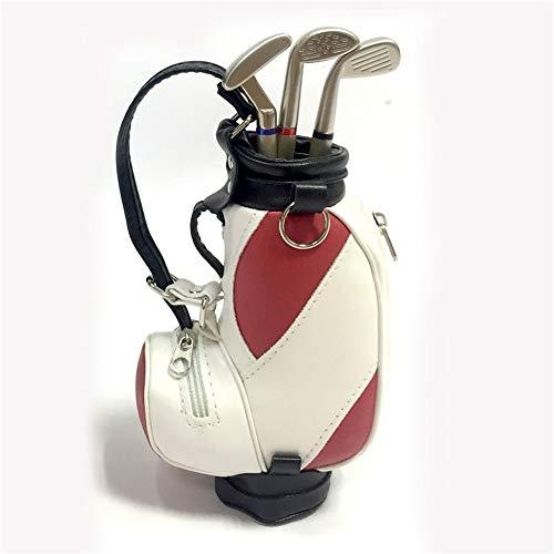 Bequem Mini Desktop Golf Souvenir Set Multifunktions Stifthalter Mit 3 Stiften Geformt Golftasche Stifthalter Mit Uhr Golf Geschenke Stift Tasche dauerhaft (Farbe : C3, Größe : Free)