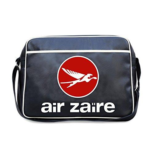 Air Zaire Umhängetasche Retro Bag Schultertasche blau für Sport Urlaub mit Gurt, Stollen