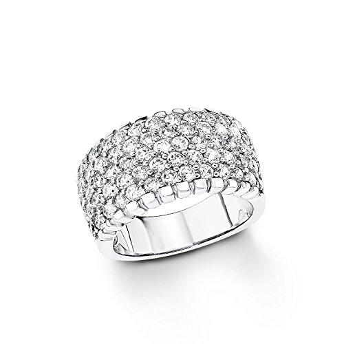 S. Oliver Damen-Ring 925 Silber Zirkonia weiß Gr. 56 (17.8) - 490122