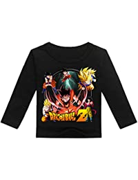 CTOOO Dragon Ball Dibujos Animados Impresión Niños Camiseta Manga Larga Casual Cuello Redondo