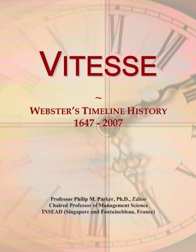 Vitesse: Webster's Timeline History, 1647 - 2007