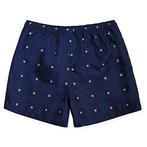 Vêtements Hommes Modèle Quick Dry Récréatif Utilitaire Sable Bordées D'arbres Swim Trunk Deux Couleurs B