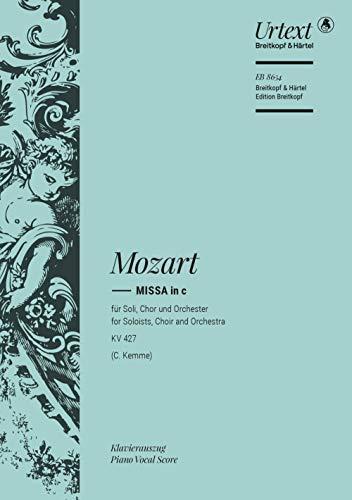 Missa c-moll KV 427: Klavierauszug, Urtextausgabe für Soli, Chor, Orchester