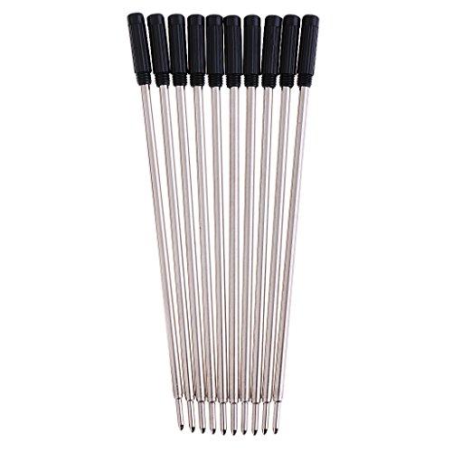 Sharplace Ersatz-Minen für Kugelschreiber, Qualitativ Hochwertig, Schwarz, 10 Stück