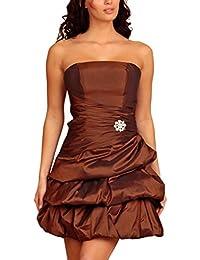 My Evening Dress Robe cocktail ballon courte, robe bandeau sans bretelle Femme