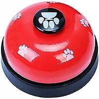 naisicatar Animal doméstico de entrenamiento de campanas Desk Bell llamada Bell Juguetes Interactifs para perro cachorro cena almuerzo sonnettes de aprendizaje de la limpieza y de comunicación calentador # Rojo # X 1