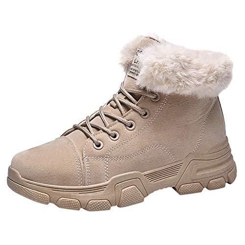 Grau LILIGOD Damen Winter Warme wasserdichte Stiefel Nylon