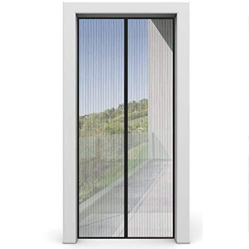 Fliegengitter Tür von INSECT-X Insektenschutz für Balkontür und Terrassentür - 100 x 200 cm - Fliegengittertür Fliegenvorhang ohne Bohren - Insekten Fliegen Mücken Vorhang für Türen