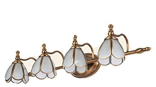 DHHHD Spiegel Scheinwerfer Badezimmer Spiegel Scheinwerfer Mode Wand Lampe Umkleidekabine Spiegel Frontwand Lampe,Wie zeigen,4 Köpfe (Stanze Blütenblätter)