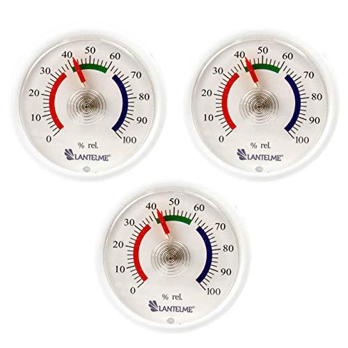 Lantelme Mini Hygrometer 3 Stück Set Analog Feuchtigskeitsanzeige Luftfeuchte Bimetall Federelement 6307 - 85-kuchen-deckel