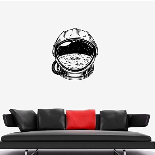 Ganjue Astronaut Raumanzug Raum Universum Mond Vinyl Wandtattoo Aufkleber Dekorative Muster Wohnkultur Kinderzimmer Kunstwand ()