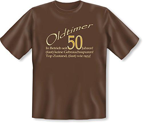 Sprüch Fun T-Shirt Geschenk zum 50. Geburtstag Vatertag Weihnachten auch Übergrößen 3XL 4XL 5XL Farben: schwarz blau braun grün braun-04