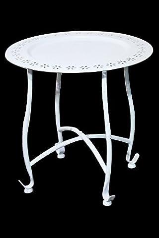 Marokkanischer orientalischer Metall Beistelltisch Klapptisch Teetisch Tisch mit Tablett Samia
