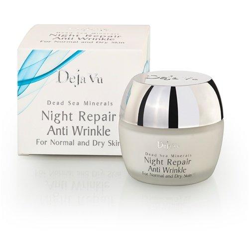 deja vu minérales naturelles de la mer Morte cosmétiques anti-rides nuit de réparation à la crème